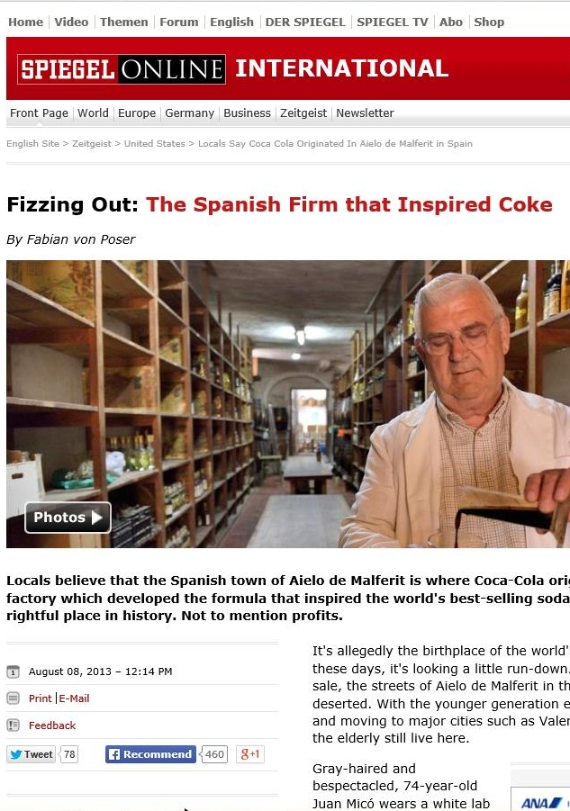 Fizzing out: The spanish firm that inspired Coke